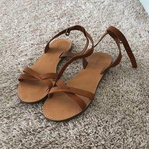Madewell Boardwalk Sandal, Tan, 8